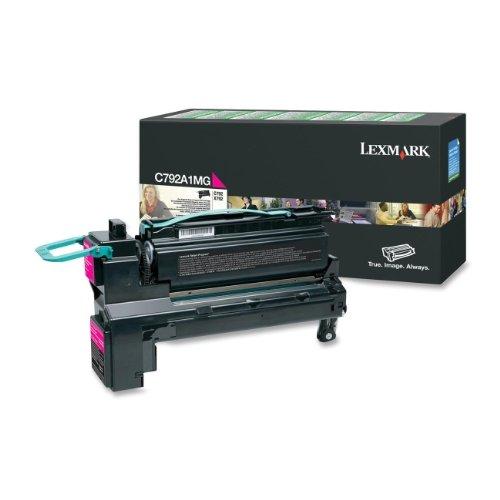 Oryginalny Lexmark C792A1MG toner magenta zwrot kasety z drukiem do Lexmark C 792 DHE