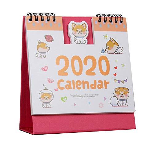 かわいい漫画2020月刊スタンディング卓上カレンダー柴犬