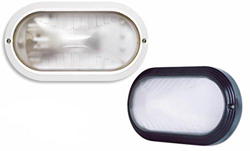 Plafoniera ovale tutta luce per esterni 1xE27 Max 60W (801-BI)