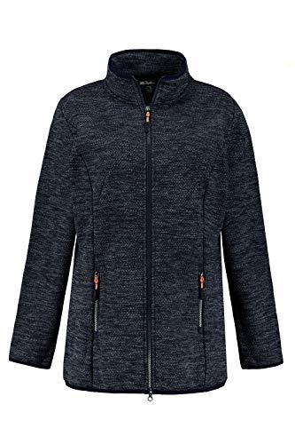 Ulla Popken Damen große Größen Strickfleece-Jacke Marine 46+ 790615130-46+