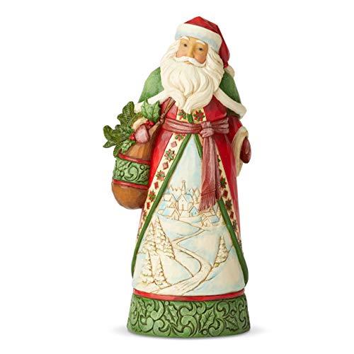 Jim Shore Heartwood Creek Babbo Natale con Scena Invernale, 26 cm