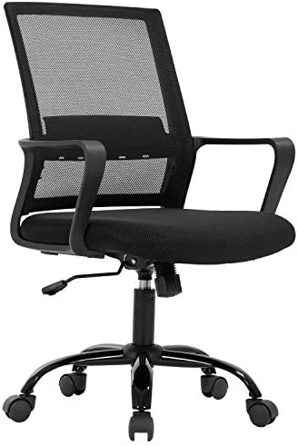 Home Office Chair Ergonomic Desk Chair Mid Back Mesh Computer Chair Lumbar Support Comfortable product image