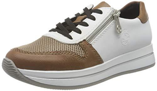Rieker Damen N4520 Sneaker, beige Kombi, 40 EU