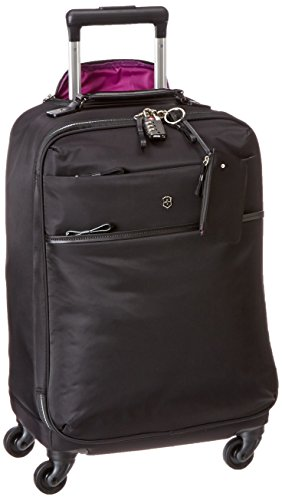 Victorinox Victoria Ambition Softside Spinner Luggage, Black, Carry-On (20')
