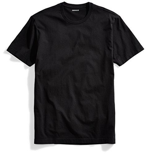 Goodthreads Men's Short-Sleeve Crewneck Cotton T-Shirt, Black, X-Large