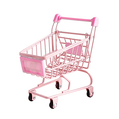 Mini supermercado Puesta de pie Carrito de la compra Decoración de escritorio...