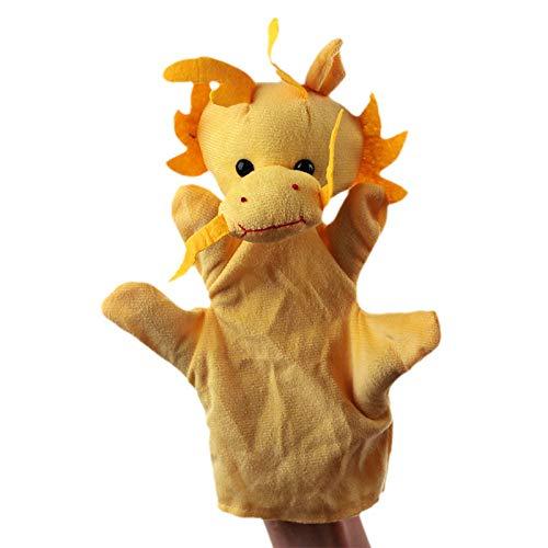 gendies Juguete de Peluche de marioneta de Mano Forma de Animal Material de Felpa de una Capa Juguete de Guante Dragón Chino de 20 cm