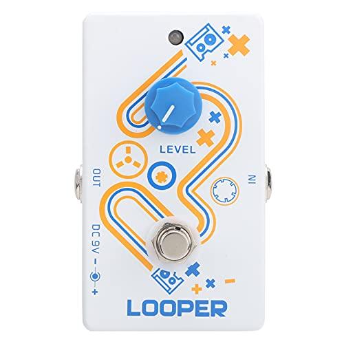 Pedal de guitarra, ligero en peso, tamaño pequeño, Looper, Pedal de guitarra para guitarra eléctrica para guitarrista para tocar
