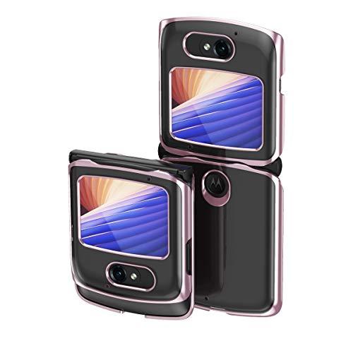 Hülle® Transparente Beschichtung Handyhülle Ultra Dünn Folable,Antikollisions,Komfortable Grip Full Protection Schild Kompatibel für Motorola Razr 5G/Motorola Razr 2 (3)