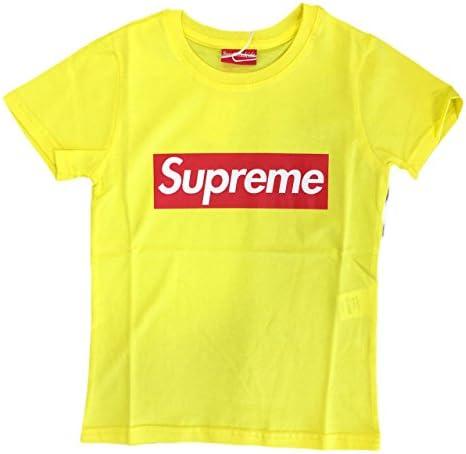 Supreme - Camiseta de manga corta - para niño amarillo 6 años ...