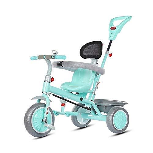 WLD Training Bike Trike Kids 'driewielers 1-3-6 jaar oud trolley kinderwagen kleine kinderen fiets multifunctionele kinder' S driewieler beste verjaardagscadeau voor kinderen 3 kleuren opties groen