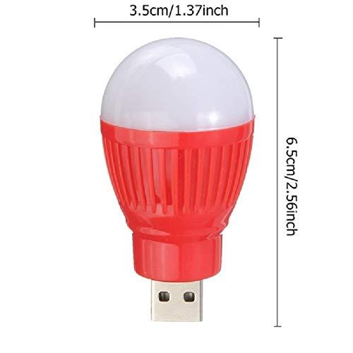 AAZDK leeslamp, draagbaar, USB, energiebesparend, klein, LED, voor laptop, noodlicht, USB, LED-lamp (willekeurige kleur), zwart, 10 stuks