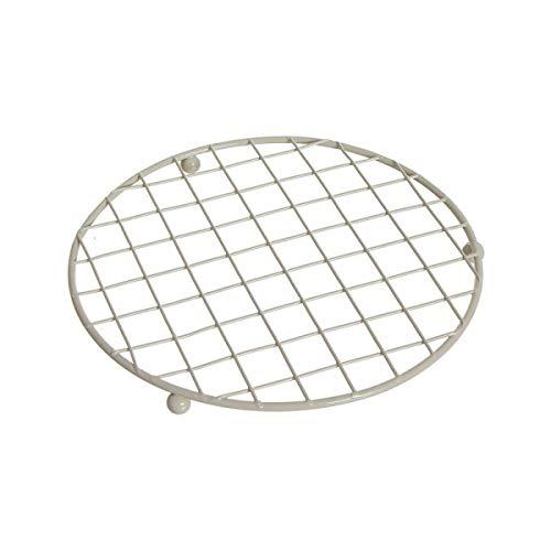 Home Gadgets - Salvamanteles (metal, 18 cm), color blanco crema
