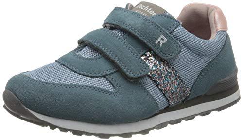 Richter Kinderschuhe Jungen Mädchen Junior Sneaker, Blau (Sky/Silver/Candy 1701), 32 EU