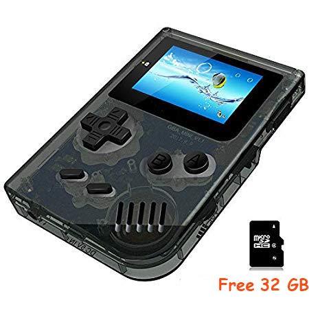 Anbernic Handheld Spielekonsolen, Retro Game Console Video spielkonsole Player Console 2.0 Zoll Spielkonsole mit 548 Classic Games für Kinder Geschenk (Transparentes Schwarz)