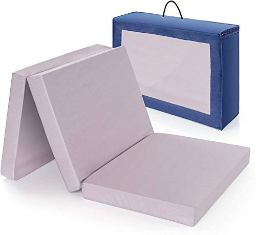 Sin sustancias nocivas,colchón cuna de viaje plegable 120x60 cm/Altura 6 cm - funda de algodón lavable, transpirable