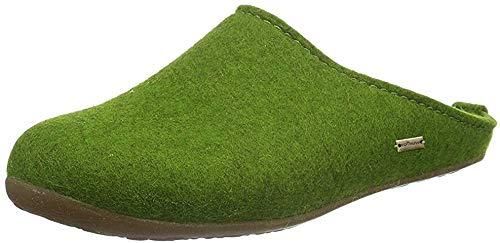 Haflinger Unisex-Erwachsene Everest Fundus Pantoffeln, Grün (Grasgrün 36), 40 EU