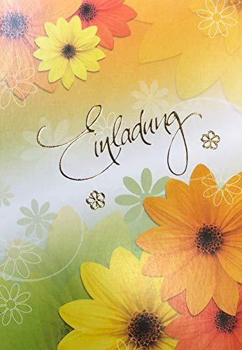 Einladungskarten Jugendweihe für Junge und Mädchen mit Innentext Motiv Blumen 10 Klappkarten DIN A6 mit weißen Umschlägen im Set Jugendweihekarten Einladung Jugendweihe Mädchen Junge K220