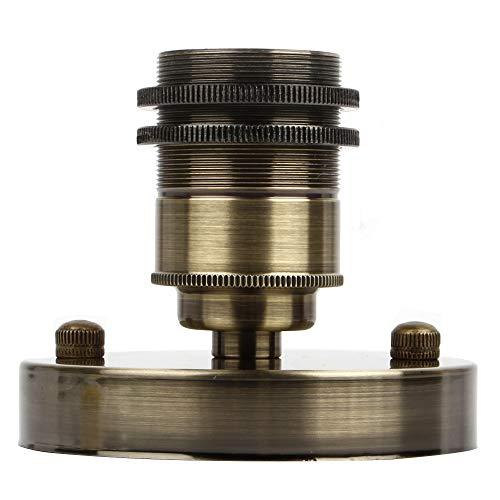 Retro Edison E27 Lampenfassung Hängeleuchte Deckenleuchte Halter Vintage Fassung Deckenfassung Lampensockel Lampenfuß Hängelampe Halter Pendelleuchte Adapter (Bronze, 1er)