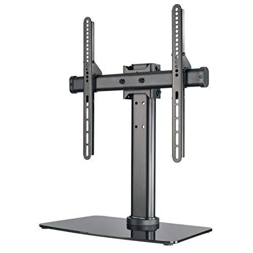 Hama TV-Ständer, neigbar, drehbar, vollbeweglich (für Fernseher von 81-140cm/32-55 Zoll, höhenverstellbar, Grundplatte aus Glas, bis 30kg, VESA bis 400x400) Fernsehständer, TV-Standfuß schwarz
