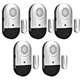 SanJie Door Window Alarm 5 Pack Wireless Home Security Magnetic Sensor 120DB Loudly Alert System for Home Business Door Alarms for Kids and Dementia Patients Safety