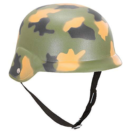 Widmann 2 Militär Hut aus Hardplastik, Camouflage, One Size