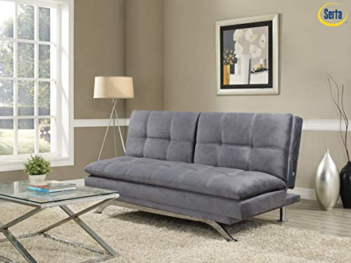Serta Parson Convertible Sofas, Light Grey