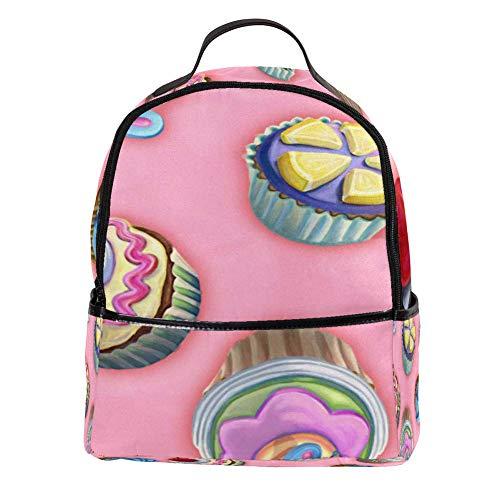 Desheze - Mochila ligera y colorida para tartas pequeñas, para la escuela y viajes, resistente al agua para mujeres y hombres, 30,5 x 14,5 x 37,1 cm