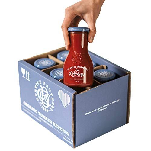 Curtice Brothers 6er-Pack Organic Tomato Ketchup - VERGLEICHSSIEGER SEHR GUT - BIO Ketchup aus der Toskana mit 77% Tomaten Anteil - 6 x 300g
