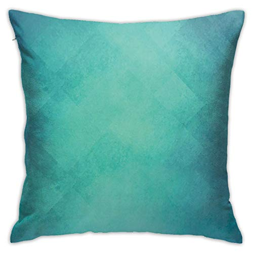 Throw Pillow Case Cushion Cover,Retro Inspired Grunge Style Abstract Pattern Vintage Design Calming Color Scheme ,18x18 Inches