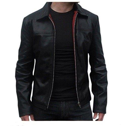 Laverapelle Men's Genuine Lambskin Leather Jacket (Black, Medium, Polyester Lining)-1501267