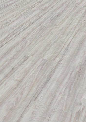 Tepcor Klick Vinylboden Premium Vinylbodenbelag mit Klicksystem Pflegeleichte und wasserfeste Vinyl Bodenbeläge in vielen verschiedenen Farben (Bianco)