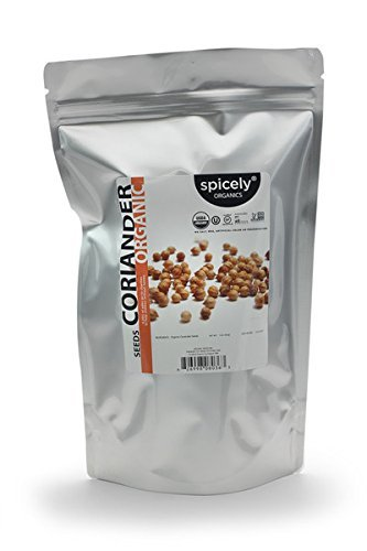 Spicely Organic Coriander Seeds 1 Lb Bag Certified Gluten Free