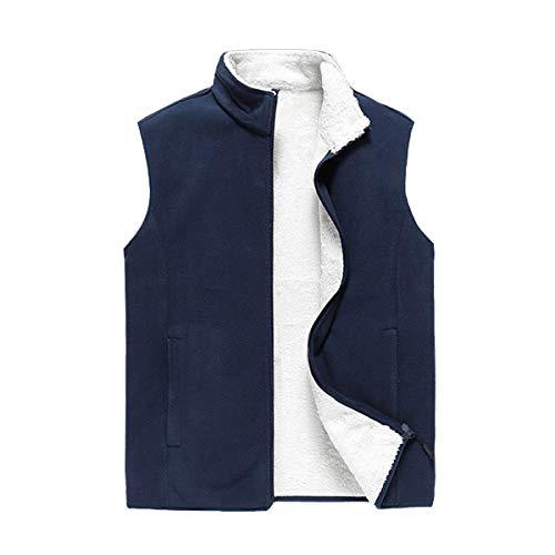 TieNew Chaleco de forro polar para hombre,Chaleco acolchado chaleco sin mangas de gran tamaño para hombres de lana X-8XL