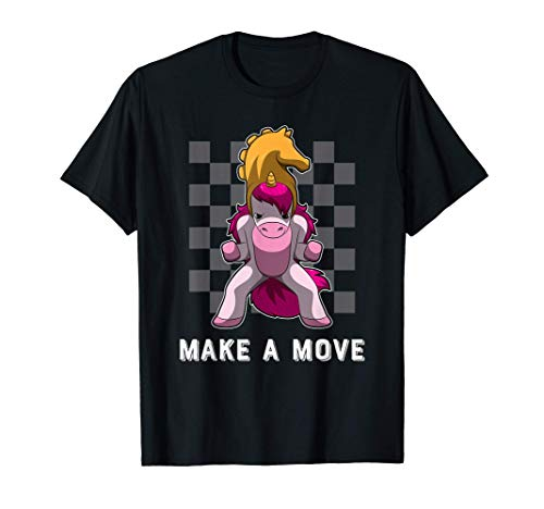 ユニコーンナイトピースとチェス盤パターン - チェス Tシャツ