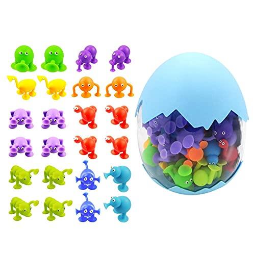 runnerequipment Saugspielzeug-BAU-Set Mit Eierschalen-Speicher-Design, Saugnapf-Gebäude-Spielzeugbad-Saugspielzeug Für Baby-3-jährige Und Höher, Kompatibel Mit -Saughaus-Spielzeug-Kit