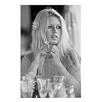 ブリジットバルドー女優黒と白のポスタープリントアートワークギフト装飾キャンバス壁アート絵画リビングルーム家の装飾-50x75CMフレームなし