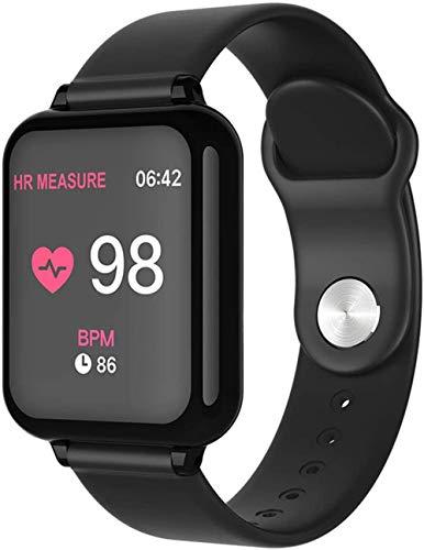Reloj inteligente de 1 3 pulgadas, pantalla de seguimiento de actividad física, podómetro, pulsera de mensaje, recordatorio inteligente IP67, resistente al agua, 180 mAh-negro
