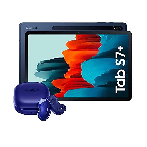 Samsung Galaxy Tab S7+ - Tablet Android WiFi de 12.4' I 128 GB I S Pen I Color Azul [Versión española] + Samsung Galaxy Buds Azul