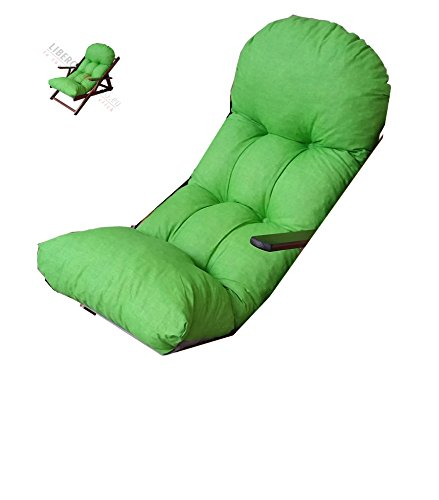 Liberoshopping Coussin Super rembourré de Rechange pour Fauteuil Chaise Longue Relax Tissu Coton Vert Acide