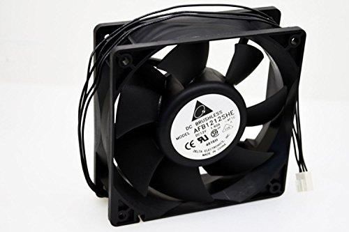 Delta AFB1212SHE-PWM 120mm x 38mm 4pin PWM+Tac Sensor Extreme Hi-speed 3700 RPM 151 CFM Case Fan