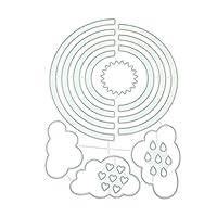 Marschao レインボークラウドDIY金属切削ダイスステンシルスクラップブッキングダイカットフォトアルバム紙カードアート工芸品の装飾