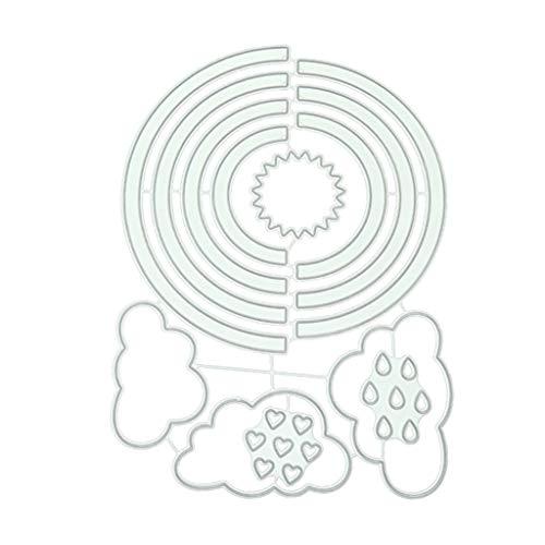 Mmnas DIY Regenbogen Stanzformen Stanzmaschine Stanzschablone, Scrapbooking Prägeschablonen Stanzformen Schablonen Für Scrapbooking, Fotopapier, Karten, Handwerk Prägen