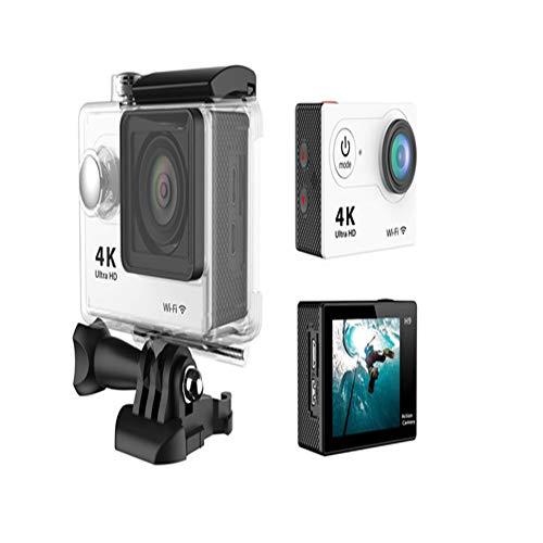 WCOCOW La acción del Deporte de la cámara 4K Ultra Cámara Impermeable Amplio de 170 Grados de la Pantalla LCD de 2 Pulgadas Ángulo de visión Kits / 18 Accesorios Videocámara HD 20MP WiFi,Silver Gray