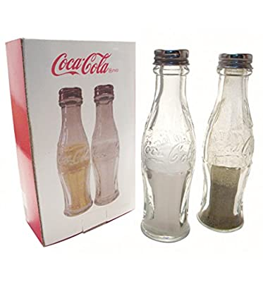 Retro Glass Coca Cola Bottle Salt And Pepper Shakers from Coca-Cola