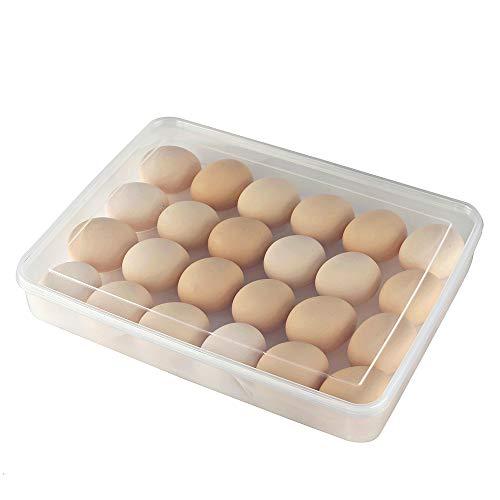Eslite Covered Egg Holder,Eggs Dispencer for 24 Eggs - Clear