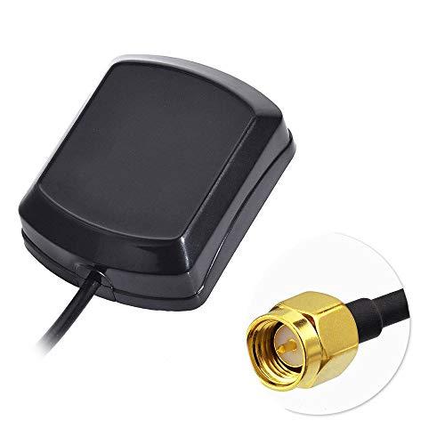 Bingfu Antena GPS para Coche Antena de Adaptador SMA Macho con 3m 9.84ft Cable de extensión Compatible con el Sistema de navegación GPS Blaupunkt Becker Audi VW RNS510 310 Alpine