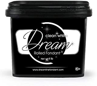 Dream Clean White Fondant, Vanilla, 4 Pounds