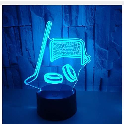 Lampe-Touch-Schalter-Steuerung des Licht-3D des Eishockey-Stock-3D s führte Nachtlicht Usb led Kinderlampenlichtkasten Kindertagsgeschenke