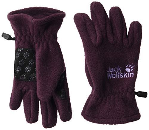 Jack Wolfskin Kinder Fleece Glove Kids Handschuhe, aubergine, 128